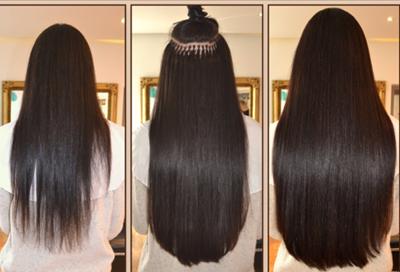 Bild von Vorher-Nachher Effekt einer Haarverdichtung