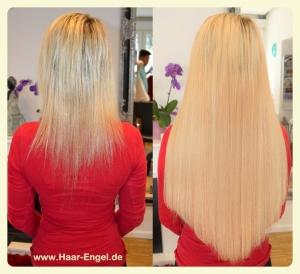 Bild von Haarverlängerung mit blonden Haaren